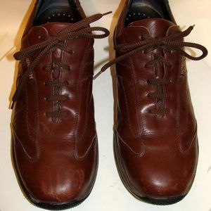 MEPHISTO CITY HIKER MENS BROWN LEATHER SHOES SZ 12